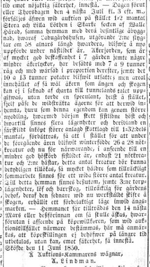Mariestadstidningen 1850-06