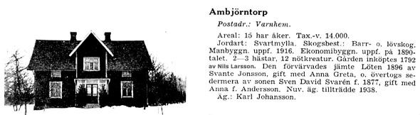 Klicka på bilden för att se bättre! Från Svenska Gods och Gårdar 1942