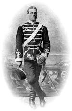 Frans Löfgren som husar senare