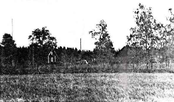 Svarvarebacken hus 1940-tal - bild från Ulla Karlsson, Svarvarebacken