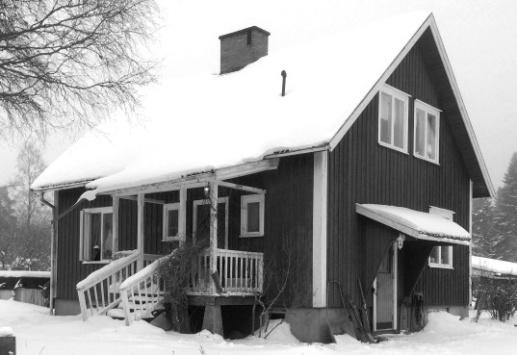 Svarvarebacken 2018 med grunden i hus byggt 1953 - grundfoto Ulla Karlsson, Svarvarebacken