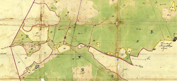 Parken Billingen runt vägen med olika tidiga uttagna intäkter. Klicka på kartan för att se den större!