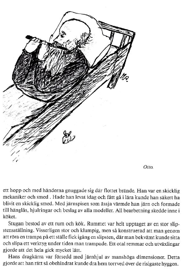 Teackning av Arne Anderssons fru, Maria Andersson.