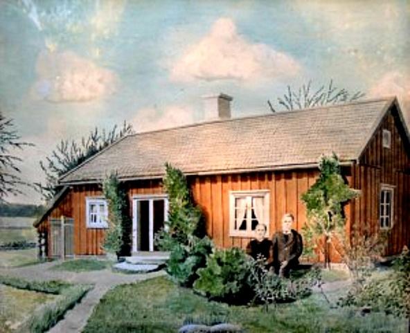 Tavla av Einar Dalberg - inackorderad Jägarebacken 1932 till 1937 - tavlan finns nu hos Hembygdsföreningen - foto Ari Laaksonen, Varnhem