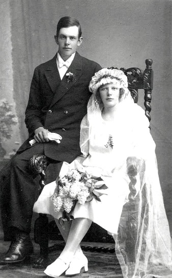 Linnéa & Bror Ullberg 25/5 1928 - foto från Petronella Erlandsson, 2018