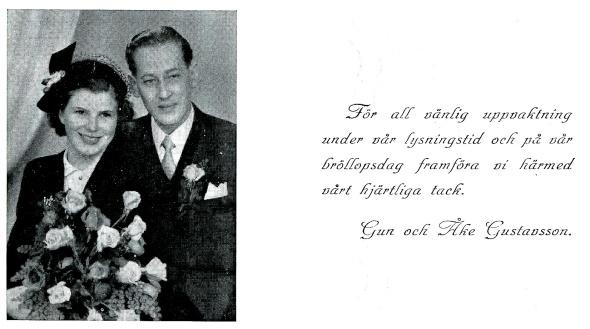 Gun Mellblom gift Gustafsson - från Petronella Erlansson