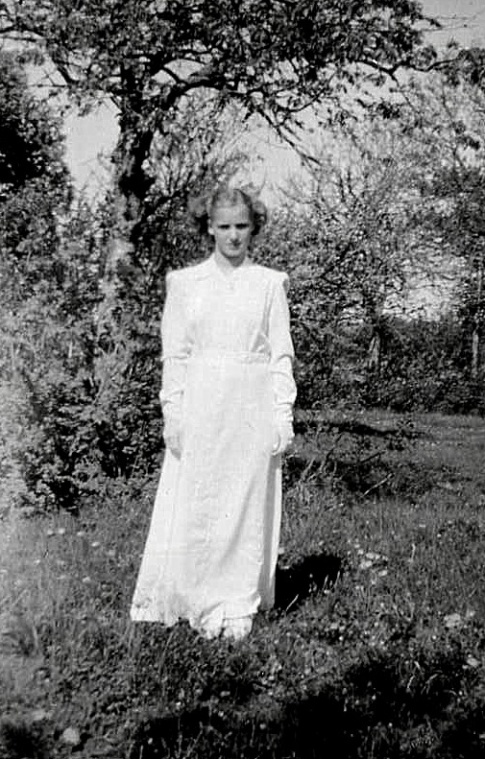 Konfirmation 1949 Maj-Lilly - foto från Petronella Erlandsson, 2018