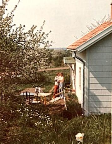 Jägarebacken 1974 - sommarstuga - foto Kerstin Antbäck, Varnhem 2020