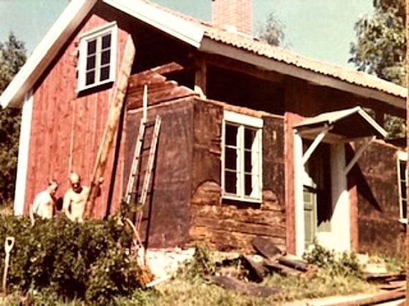 Jägarebacken byggs om 1977