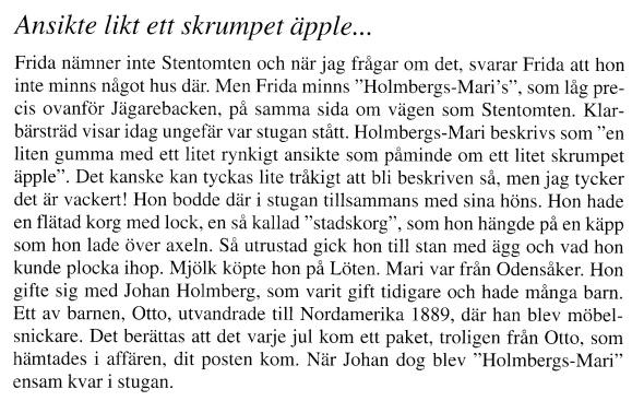 Holmbergs-Marie - Ur Billingen längesen, Nr 3, 2013 - Verna Andersson