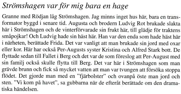 Strömshagen en hage - Ur Billingen längesen, Nr 3, 2013 - Verna Andersson