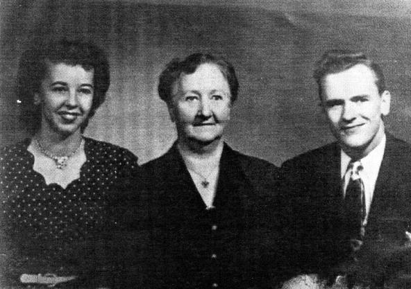 Ida Boström i Amerika med dottern Vickie och sonen Alf