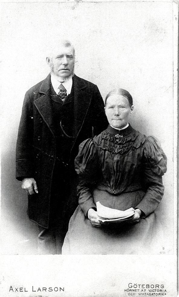 Johannes Larsson och Hustrun Charlotta - från Verna Anderssons samling