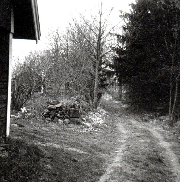 Västtorpa Gata förbi Stenstorp - foto ur Verna Anderssons samlingar