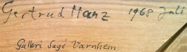 Samma ram; Getrud Manz 1968 juli