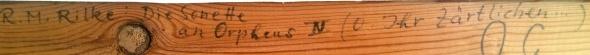 Kilramspåskrift av Gertrud Manz