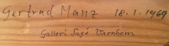 Samma ram; Getrud Manz 1969 18/1