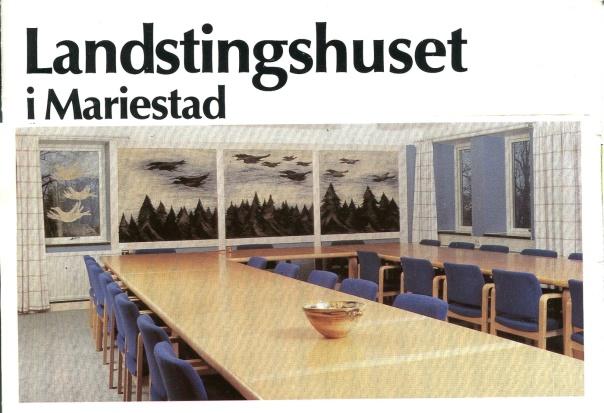 Landstingshuset i Mariestad Annette Magnussons triptyk