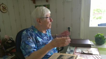 Irma Meyer, adopterad Johansson, 92 år, Skövde 2014. Foto Kent Friman, copyright