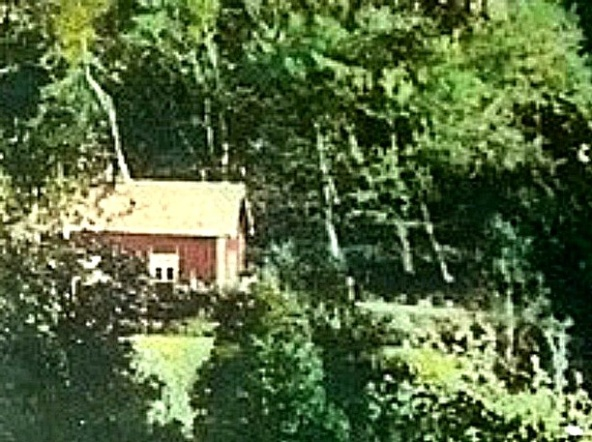 The cottage at the farm Sten - colored photo from 1905