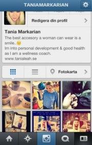 """på instagram heter jag kort & gott """"TANIAMARKARIAN"""""""