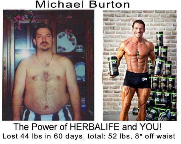 """Här är en bild på Michael Burton som också tar sin före & efter shake som inspirerade mig i min utmaning att bränna fett.Snart om några dagar är det dags för min 6 månaders """"efter"""" bild men här ser Ni på bild min transformation bara av att ha lagt till h24 att ta före & efter varje träningspass...detta kallas för träningsresultat."""
