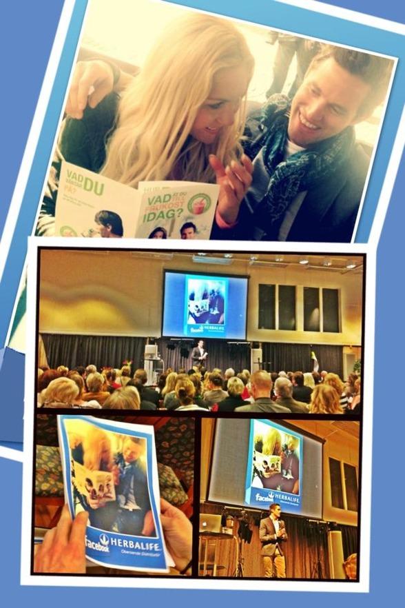 På ett Herbalife seminarie i Jönköping fick jag & Marcus dela med oss av våra kunskaper om Sociala medier