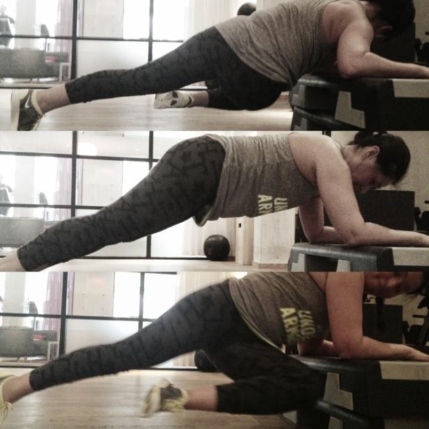 Älskar att träna med Lorena hon lär mig alltid nya övningar som denna som jag ska ta med nästa gång jag tränar benen.