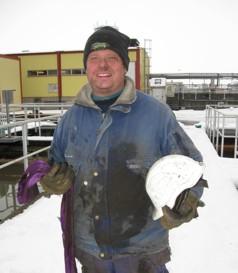 """Mikael Eeneroth har haft """"otur"""" på reningsverket, men är lika glad för det."""
