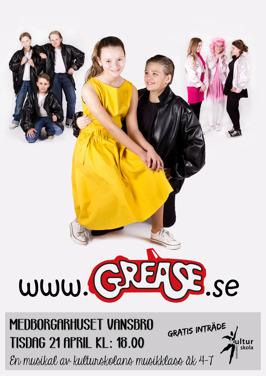 Musikalen www.Grease.se, av Kultursskolans lilla musikklass, Maj 2015