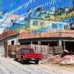Favelaen er pyntet, Futuro Rio de Janeiro- foto Snorre Holand - Futuro Rio