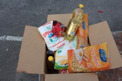 Mat kassen Futuro Rio deler ut, veier 21 kg og består av det mest nødvendige, for å sette næringsrik mat på bordet.