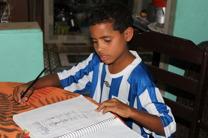 Raphael har blitt ivrig med leksene. Foto: Snorre Holand Futuro Rio