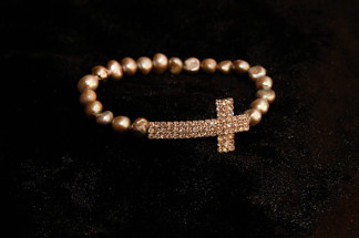 Belief Armband, Pearls for Girls