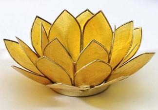 Lotusblomma för värmeljus, gul - Lotusblomma för värmeljus, gul