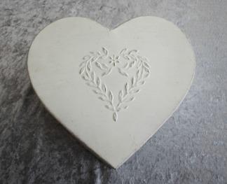 Plåtburk hjärta - stor 25 cm -