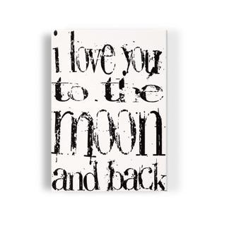 I love you to the moon and back - Tavla - I love you to the moon and back