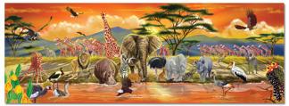 Leksaker golvpussel - Safari -