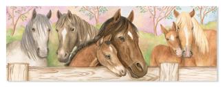 Leksaker golvpussel - Hästar och föl -