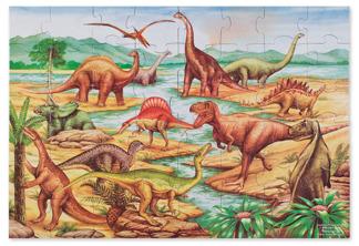 Leksaker golvpussel - Dinosaur -