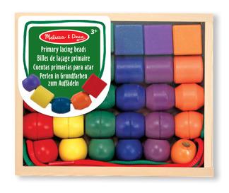Leksaker - Stora träpärlor med snören -