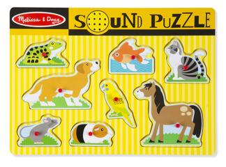 Leksaker - Pussel med ljud - Husdjur -