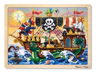 Leksaker - Träpussel piratäventyr -