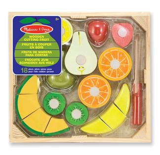 Leksaker - Frukt-set i trä 18 delar -