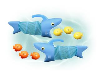 Leksaker - Hajar badleksak -