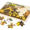 Leksaker - Träpussel grävmaskiner