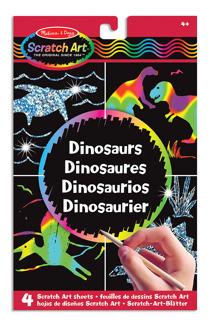 Leksaker - Skratch Art Dinosaurier -