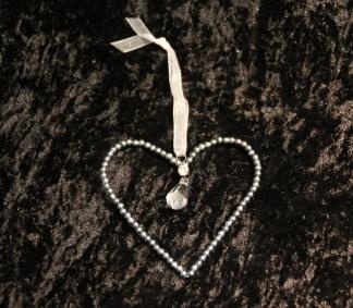 Hjärta med pärlor -