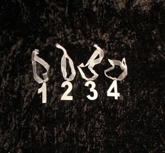 Sifferset 1-4 med sidenband för kronljus -