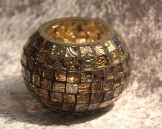 Ljuslykta Maja Artisan Mosaic round small -
